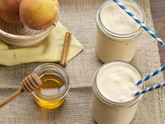 Peach Pie Smoothie #recipe #dairy #fruit #myplate