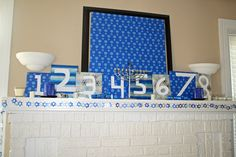 LOVE THIS: Hannukah mantle; 8 books wrapped to open each night and read together as a family