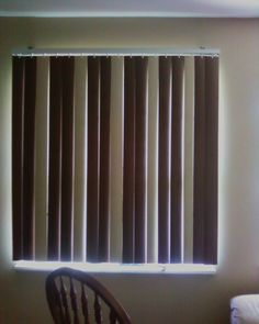 painting your vertical blinds to add some spice to those boring white things