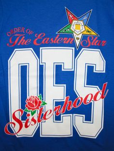 "OES Order of the Eastern Star ""Sisterhood"" T-Shirt"
