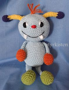 Monster Baby with rattle ears, perfect for teething children by Eventyrkisten