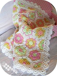 Baby Blanket with african flowers