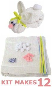 Washcloth bunnies