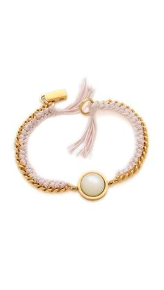 Chain bracelet with knotted thread