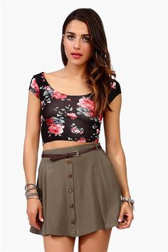 Tres Bien Crop Top - Black