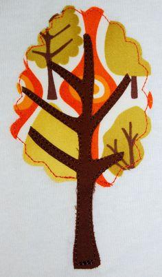 fall tree applique
