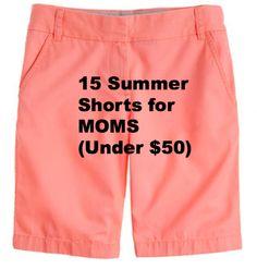 15 Summer Shorts for MOMS!  http://momgenerations.com/2013/05/monday-fashion-round-up-15-summer-shorts-for-moms/ #Fashion #Style #Motherhood