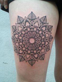 Geometric flower mandala.
