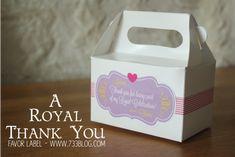 Princess Party Favor Box - PYP Gable Box and Washi Tape