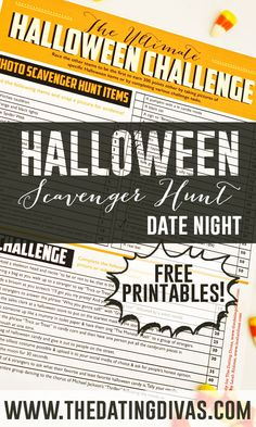 Halloween scavenger hunt!! Such a fun easy date night!!