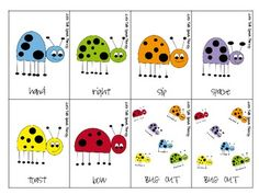 Free! Bug Out! A multiple meaning word activity with 48 cards/16 foils