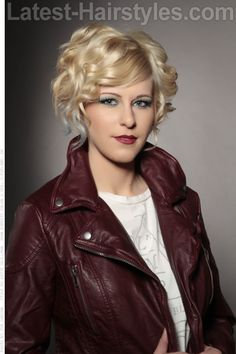 Short Hairstyle with Fringe and Curls
