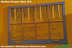 DIY melted crayon rain art w/ upcycled window! SoFabCon inspired me to learn to dance in the rain!  #LuvSoFab14 #SoFabCon14 #collectivebias