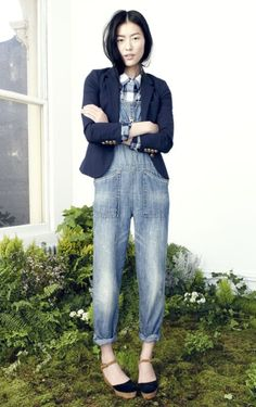 Overalls done right dungare, liu wen, fashion, style inspir, cloth, dress, liuwen, wear overal, denim overallsmadewel