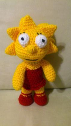 Lisa Simpson Amigurumi  Patrón Gratis en Español (está debajo del Patrón de Bart Simpson)