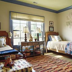 identical to the layout of gabe's room. . . need to do more decorating in there. . . love this look :)