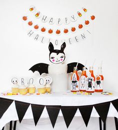 Really cute Halloween Printable Party pack