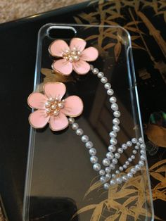 Homemade iPhone 5 flower case