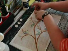 * Mixed Media Art Journal Page - Spring Branches - inspired by Junelle Jacobsen *