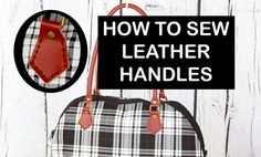 Sewing leather handles / Hand sew leather
