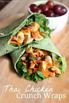 Thai Chicken Crunch Wraps on MyRecipeMagic.com