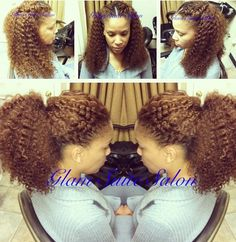 Full Sew In w/kinky hair & minimal leave out for versatility styling  Glam Suite Salon www.latonya4hair.com
