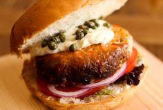 Cedar Plank Salmon Burger