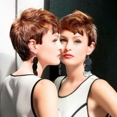 very short colores hairstyles