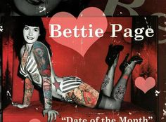 Tattooed Bettie Page ART PRINT by TheEscapistArtist on Etsy, $3.50