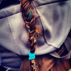Fishtail braid with one dreadlock