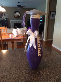 Autograph bowling pins for the seniors