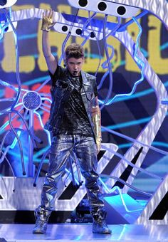 Biebs performing at the TCAs.