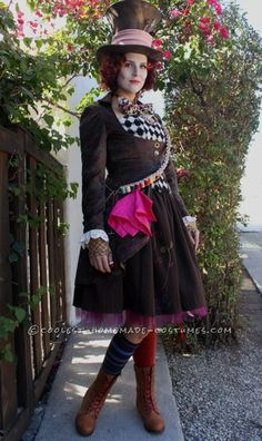 Beautiful Handmade Maddest of Hatters Costume for a Woman… Coolest Halloween Costume Contest