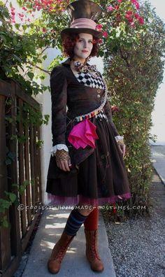 beauti handmad, mad hatter costume for women, halloween costumes, female mad hatter costume, cosplay idea, homemade costumes, costum idea, mad hatter woman costume, mad hatter female