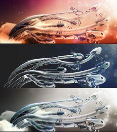 MATTE DRAGONS by David Vargas, via Behance