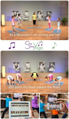 I love this free Sing Song Yoga™ app for kids-- we can choose a set program of poses or design our own. The cute songs make the poses easy to remember. Yay!