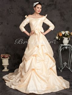 taffeta court, wedding dressses, court train, dress 268672, train offtheshould