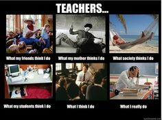 Almost completely accurate...except for what my friends think I do-all of my friends are teachers haha. Oh, and my Mom thinks I do what this says my friends think