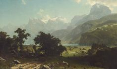 Albert Bierstadt, 'Lake Lucerne,' 1858, National Gallery of Art, Washington D.C.