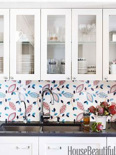 kitchen backsplash, kitchen art, countri style, glass, cabinet