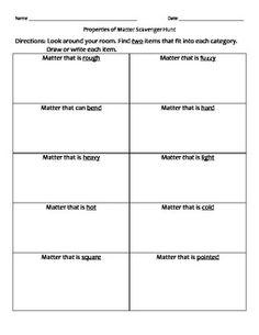 ... Of Matter Worksheet 2nd Grade on changes in matter worksheet