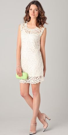 Lace Crochet Dress. $248