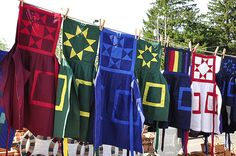 Amish quilt aprons