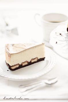 Tiramisu Cheesecake - cheesecake with coffee.  cheesecake on biscuits