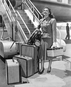 Boarding American Airlines, 1948