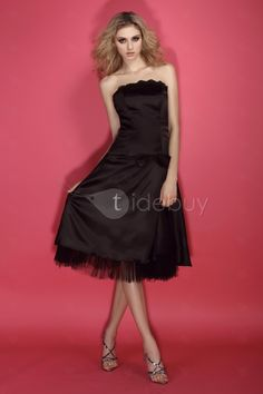 A-Line Knee-Length Strapless Dasha's Prom Dress