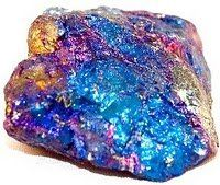 Chalcopyrite, known as the Peacock Stone to those in Arizona (a copper-iron sulfite material)