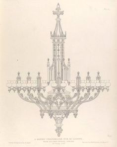 Free printable collection of antique drawings from 1836 of ornamental metal work in England.