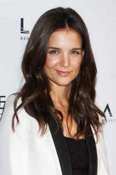 Katie Holmes gorgeous, brunette hairstyle
