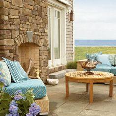 beach cottage patio